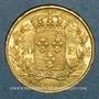 Coins Louis XVIII (1815-1824). 20 francs buste nu 1819A. (PTL 900/1000. 6,45 g)
