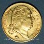 Coins Louis XVIII (1815-1824). 20 francs buste nu 1819W. Lille. (PTL 900‰. 6,45 g)