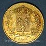 Coins Louis XVIII (1815-1824). 40 francs buste nu 1816L. Bayonne. (PTL 900‰. 12,90 g)