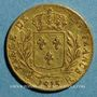 Coins Louis XVIII, en exil (1815). 20 francs 1815R. Londres. (PTL 900‰. 6,45 g)