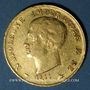 Coins Royaume d'Italie. Napoléon I (1805-1814). 40 lires 1811/1801M. Milan. 900/1000. 12,90 g.