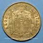 Coins Royaume d'Italie. Napoléon I (1805-1814). 40 lires 1814M. Milan. (PTL 900‰. 12,90 g)
