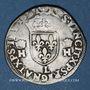 Coins Charles IX (1560-1574). Monnayage au nom de Henri II. Teston, 2e type, 1561L. Bayonne