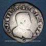 Coins Charles IX (1560-1574). Monnayage au nom de Henri II. Teston du Dauphiné 1561 Z. Grenoble (Z pointé)