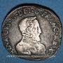 Coins Charles IX (1560-1574). Monnayage au nom de Henri II. Teston du Dauphiné 1561Z. Grenoble (Z pointé)