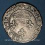 Coins Charles IX (1560-74). Double sol parisis, 1er type, 1571K. Bordeaux