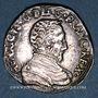 Coins Charles IX (1560-74). Monnayage au nom de Henri II. Teston du Dauphiné 1561Z et rose. Grenoble