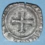 Coins Charles VI (1380-1422). Double tournois dit niquet frappé à Dijon (point 13e avers et revers)