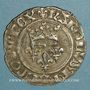 Coins Charles VI (1380-1422). Gros dit florette, 3e émission (7 mars 1419). Paris, point 17e /revers