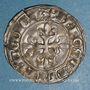 Coins Charles VI (1380-1422). Monnayage du dauphin Charles. Florette, 1ère émission (1419).