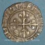 Coins Charles VI (1380-1422). Monnayage du dauphin Charles. Florette, 5e émission (1419). La Rochelle