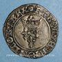 Coins Charles VI (1380-1422). Monnayage du duc de Bourgogne (1417-1423). Florette. Châlons sur Marne