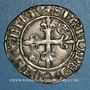 Coins Charles VI (1380-1422). Monnayage du duc de Bourgogne (1417-1423). Florette. Troyes (annelet 14e)