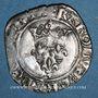 Coins Charles VI (1380-1422). Monnayage du duc de Bourgogne (1417-23). Florette. Dijon (point 1er av & rev