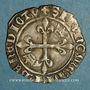 Coins Charles VI (1380-1422). Monnayage du duc de Bourgogne (1417-23). Florette. Dijon, point 1er