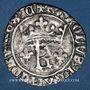 Coins Charles VII (1422-1461). Blanc au K dit des gens d'armes, 1ère émission. Chinon (a oncial...