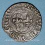 Coins Charles VIII (1483-1498). Denier tournois. Couronnelles initiales placées /annelet. Type inédit !