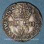 Coins Charles X, roi de la Ligue (1589-1590). 1/4 d'écu 1591B et point 15e. Rouen