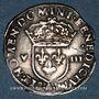 Coins Charles X, roi de la Ligue (1589-1590). 1/8 d'écu 1591 A et point 18e. Paris
