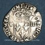 Coins Charles X, roi de la Ligue (1589-1590). 1/8 d'écu 1596T, point 5e et 17e. Nantes