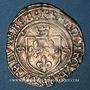 Coins François I (1515-1547). Grand blanc à la couronne, 1er type var. Villeneuve-lès-Avignon. Inédit !