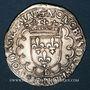 Coins François I (1515-1547). Teston, 25e type. Lyon (D et annelet 12e)