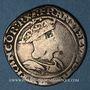 Coins François I (1515-1547). Teston du Dauphiné. Type inédit. Crémieu (point 1er)