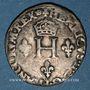 Coins Henri II (1547-1559). Gros de trois blancs ou demi-gros de Nesle 1551A. Paris