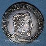Coins Henri II (1547-1559). Teston, 2e type, 1557M. Toulouse