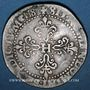 Coins Henri III (1574-1589). 1/2 franc au col légèrement dentelé 1587A