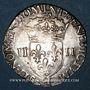 Coins Henri III (1574-1589). 1/4 d'écu 1582 H. La Rochelle. Variante inédite !