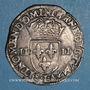 Coins Henri III (1574-1589). 1/4 écu 1589L. Bayonne