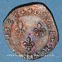 Coins Henri III (1574-1589). Double tournois 1586H. La Rochelle