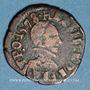 Coins Henri III (1574-1589). Double tournois du Dauphiné, 1578Z. Grenoble
