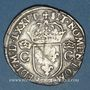 Coins Henri III (1574-1589). Monnayage au nom de Charles IX. Teston, 8e type, 1575M. Toulouse