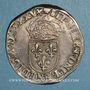 Coins Henri III (1574-1589). Monnayage au nom de Charles IX. Teston 9e type 1575D. Lyon