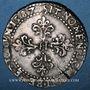 Coins Henri III (1575-1589). 1/2 franc au col plat 1587B. Rouen