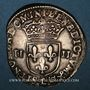 Coins Henri IV (1589-1610). 1/4 d'écu, 2e type, 1605L. Bayonne