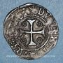 Coins Louis XI (1461-1483). Double tournois, 1ère émission (31 décembre 1461). Saint-Pourçain (point 11e)