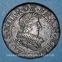 Coins Louis XIII (1610-1643). Double tournois au buste juvénile et col fraisé 1632E. Tours