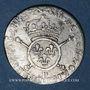 Coins Louis XIV (1643-1715). 1/12 écu aux insignes (17)02P. Dijon. Réformation !