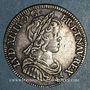Coins Louis XIV (1643-1715). 1/4 écu à la mèche courte 1645 A. Point initial au revers