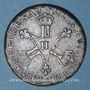 Coins Louis XIV (1643-1715). 6 deniers dits dardenne 1710H. La Rochelle. R !