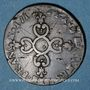 Coins Louis XIV (1643-1715). 6 deniers dits dardenne 1712&. Aix