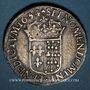 Coins Louis XIV (1643-1715). Ecu de Navarre à la mèche longue 1654. Saint-Palais