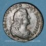 Coins Louis XIV (1643-1715). Liard de France au buste âgé, 3e type, 1699&. Aix. Avec soleil