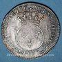 Coins Louis XV (1715-1774). 1/10 écu vertugadin 1716A. Réformation