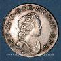 Coins Louis XV (1715-1774). 1/10 écu vertugadin 1716P. Dijon. Réformation !