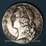 Coins Louis XV (1715-1774). 1/2 écu au bandeau 1748W. Lille