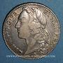 Coins Louis XV (1715-1774). 1/2 écu au bandeau 1761 W. Lille